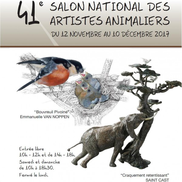 visite guid e du salon national des artistes animaliers