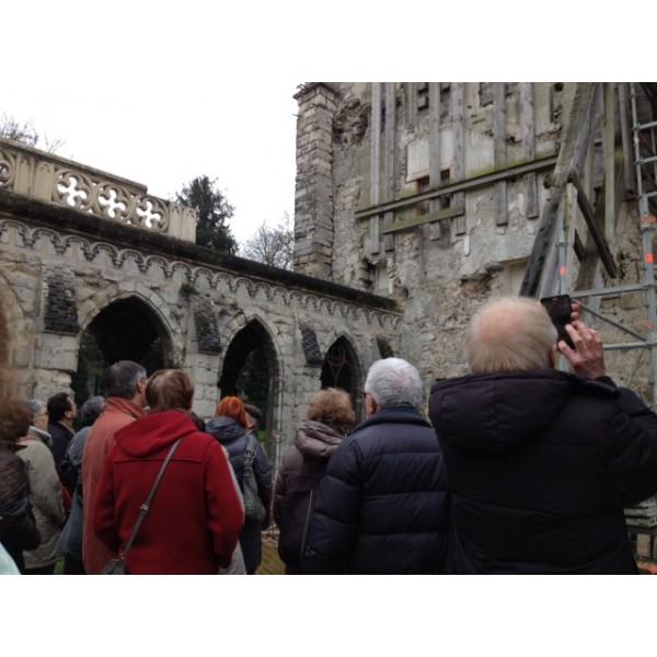 Visite de chantier travaux d urgences sur la chapelle for Visite de chantier