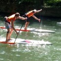 Course conviviale en Stand up paddle