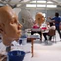 Création en cours : Visite d'un atelier de construction de marionnettes géantes « Les Géants d'Orly »
